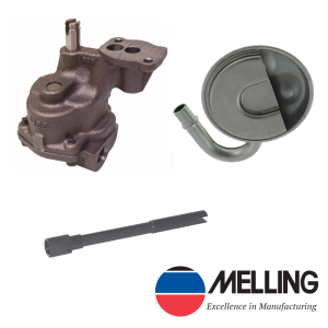 Melling M55HV SBC High Volume Oil Pump Kit with pickup and Rod 283 350 327 400